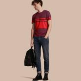 Burberry Stripe Print Cotton T-shirt