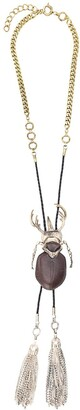 Gianfranco Ferré Pre Owned 1990s Beetle Charm Necklace