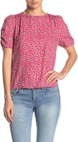 Elodie K Floral Ruched Short Sleeve Top