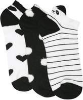 M&Co Monochome trainer socks three pack