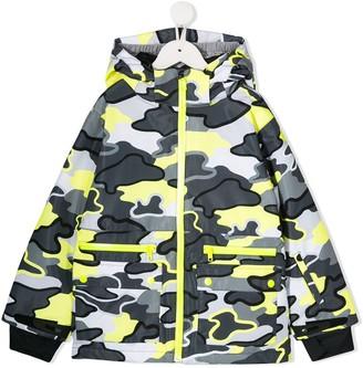 Stella Mccartney Kids Camouflage Hooded Jacket