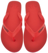 Armani Exchange Flip Flops Red
