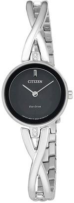Citizen Women's Standard Stainless Steel Eco-Drive Watch, 23mm
