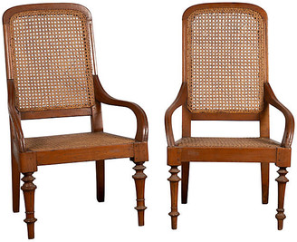 One Kings Lane Vintage Pair of Dutch Colonial Java Armchairs - FEA Home