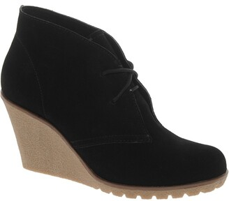 Chinese Laundry Suede Cory Wedge Ankle Boots