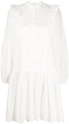 Closed Broderie Anglaise Dropped Waist Dress