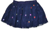 Stella McCartney Honey Star-Print Smocked Tulle Skirt, Blue, Size 8-14