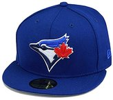 New Era 59fifty Toronto Blue Jays Authentic Baseball Hat Cap All Light /New Logo/Grey Bottom MLB
