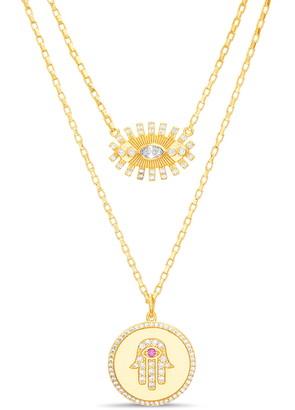 Lesa Michele Layered Pendant Necklace