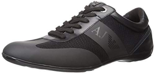 Armani Jeans Men's Mesh and Leather City Fashion Sneaker