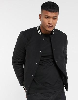Bolongaro Trevor wool bomber jacket with contrast sleeves-Black