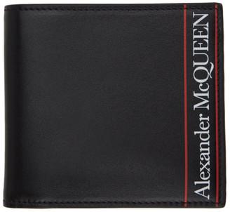 Alexander McQueen Black and Red Logo Bifold Wallet