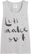 Zoe Karssen Let's Make Out Printed Cotton-Blend Jersey Tank
