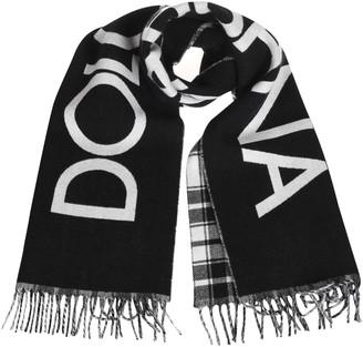 Dolce & Gabbana Fringed Edges Logo Scarf