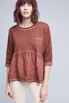 Anthropologie Peplum Pocket Top