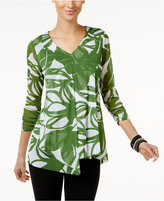 Alfani Ruffled Tunic Top, Only at Macy's