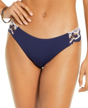 Becca Crochet-Trim Hipster Bikini Bottoms Women's Swimsuit