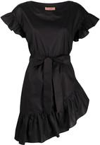 Twin-Set Twin Set ruffle trim belted waist dress