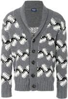 Drumohr intarsia knit cardigan