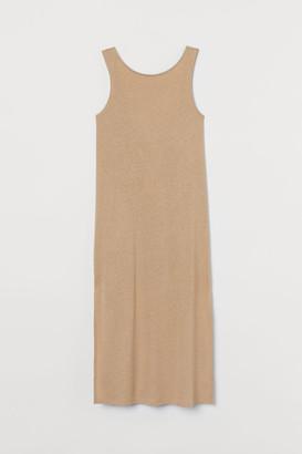H&M Linen-blend Dress - Beige