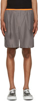 Kolor Grey Poplin Shorts