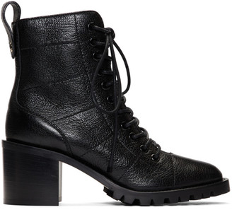 Jimmy Choo Black Leather Cruz 65 Boots