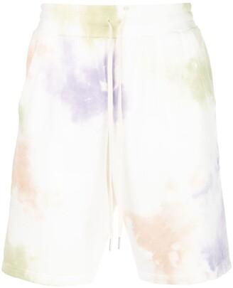 John Elliott Watercolour-Print Jersey Shorts