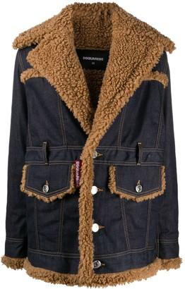 DSQUARED2 Denim Shearling Jacket