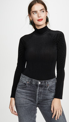 Only Hearts Velour Turtleneck Thong Bodysuit