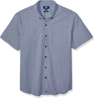 Cutter & Buck Men's Short Sleeve Anchor Gingham Button Up Shirt