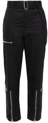 Helmut Lang Flight Zip-detailed Cotton-blend Twill Tapered Pants