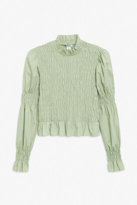 Monki Ruched top
