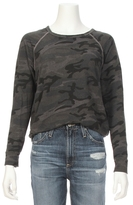 Sundry Crop Camo Print Raglan Sweatshirt
