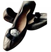 Salvatore Ferragamo Gold Leather Ballet flats