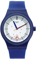 Swatch Men's Swiss Sistem Grid Blue Silicone Strap Watch 42mm SUTN401