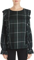 Sanctuary Taylor Plaid Flutter Top - 100% Exclusive