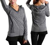 Pop Fashion Women's Hooded Sweatshirt with Handwarmer Thumbholes