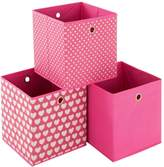 Very Ideal Hearts Set of 3 Kids Storage Boxes