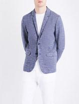 BOSS ORANGE Slim-fit marled jersey jacket