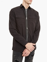 Helmut Lang Black Zip-up Cotton Shirt