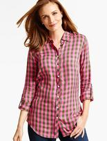 Talbots The Long Drapey Shirt-Westgate Checks