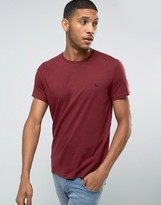 Jack Wills T-Shirt In Classic Regular Fit in Damson