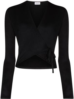 Leset Fallon wrap-style blouse