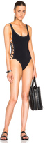 Karla Colletto Rings Round Neck Swimsuit