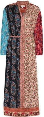 BOTEH Multi-Panel Print Midi Dress