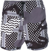 Neil Barrett Kefiah camouflage print swim shorts - men - Polyester - XL
