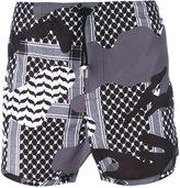 Neil Barrett Kefiah camouflage print swim shorts