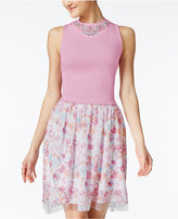 Disney Beauty and the Beast Juniors' Embellished Top & Printed Skirt Set