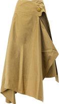 Marni asymmetric skirt - women - Cotton - 42