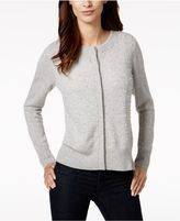 Charter Club Pearl-Embellished Cashmere Cardigan, Created for Macy's